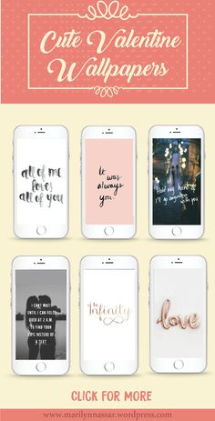 Valentine's day is just a week away! So a few days ago, I was searching for some romantic phone wallpapers for valentine's day and I just found some really cute ones that I would like t…