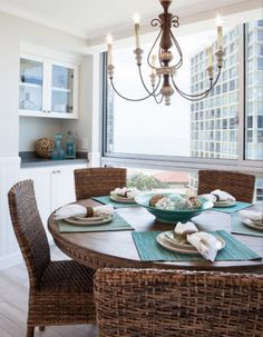 Blue And Wicker In A Beach Condo: Http://www.completely