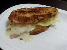 GRILL HAM AND CHEESE WITH PRICKLE GINGER SANDWICH
