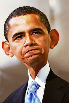Celebrity Caricatures | Funny Celebrity Caricatures op FUNDALIZE.com  Obama