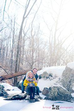 Winter engagement photos.