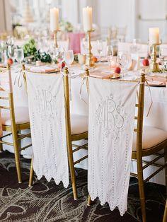 Chair banners | Amy Arrington