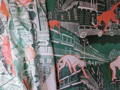 Harriet Popham, surface textile designer. Architecture and Portraiture in print and stitch. http://harrietpophamtextiles.tumblr.com/