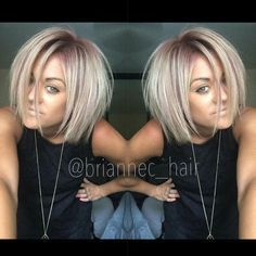 Image result for rose gold root blonde hair