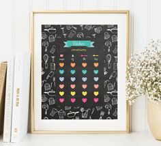 Kitchen Conversions Chart Art Print by DecorartDesign on Etsy