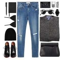 Ripped jeans by elly3 on Polyvore featuring polyvore, fashion, style, Zara, Proenza Schouler, Givenchy, Charlotte Russe, Movado, Oliver Peoples, Nails Inc., Smythson, Harley-Davidson, rippedjeans, polyvoreeditorial and polyvorecontest