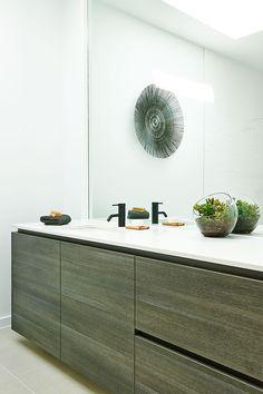 Hamlan Homes bathroom Liberty Home, Powder Room, Cool Designs, Cabinet, Storage, Interior, Bathrooms, House, Furniture