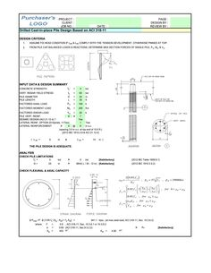 Anchor Bolt Design With Tension, Shear and Moment Using