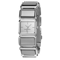 Diesel DZ5157 silver mirror bracelet women's Watch.  Attention to detail and high quality materials are used throughout making the Ladies Blue Revo Bracelet WatchDZ5157 a watch you can show off with glee.
