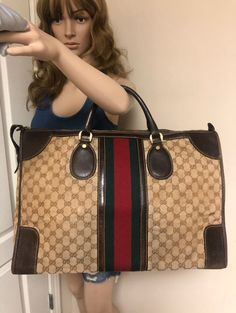 Too good not to share: GUCCI WEB GG CANVAS 1970's CARRY ON BAG