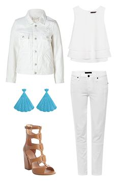 All-White Looks You Can Wear After Labor Day  #refinery29  http://www.refinery29.com/white-clothing#slide1  All Day, All Night, Boho With the right jewelry, an all-white look can be ageless and timeless. Add a splash of turquoise to a denim-heavy all-white look, for example and you've got a bit of southwestern flair that works for the city, too.  Marc by Marc Jacobs Alexa White Distressed Cotton Jean Jacket, $132, available at Stylebop; Zara Double Layer Top, $49.90, available at Zara; ...