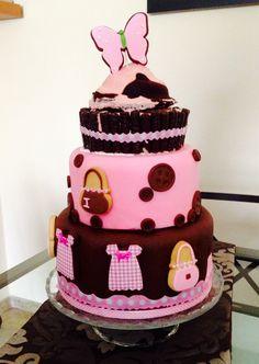 #tartafondant#pinkcake#pasteleriacreativa