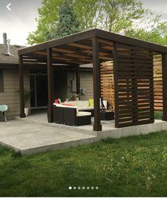 Pergola With Glass Roof Code: 2830328080 Backyard Shade, Backyard Gazebo, Small Backyard Gardens, Backyard Patio Designs, Pergola Shade, Pergola Designs, Small Backyards, Wood Pergola, Deck With Pergola