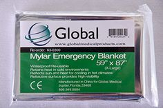Waterproof Windproof Mylar Emergency Blanket 59x87 X Large -- See this great product.