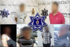 Detienen policías municipales en Juárez a seis sujetos por el delito de violencia familiar en diferentes hechos | El Puntero