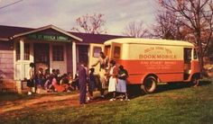 Delta Sigma Theta bookmobile in front of the King St. Branch Library of of the West Georgia Regional Library in Carrollton, GA.