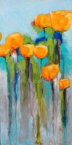 Kellee Wynne Conrad Fine Art: New Series: Secret Garden by ellebasi Abstract Flowers, Watercolor Flowers, Watercolor Paintings, Abstract Art, Black Abstract, Abstract Paintings, Modern Paintings, Pastel Paintings, Paintings Of Flowers