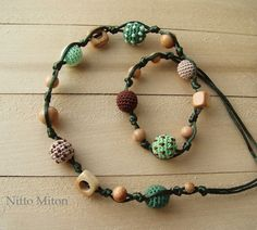 Crochet Nursing Teething necklace for mom Babywearing necklace