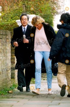 January 4, 1996: Princess Diana visits therapist, Susie Orbach in London. Photo by Marco Deede-alpha-Globe Photos , Inc