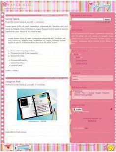 paper girl blogger template