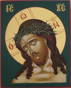 a painting of Jesus Christ or another holy figure, typically in a traditional style on wood, venerated and used as an aid to devotion in the Byzantine and other Eastern Churches. Christian Religions, Christian Symbols, Christian Art, Religious Icons, Religious Art, Writing Icon, Spiritual Paintings, Images Of Christ, Sign Of The Cross