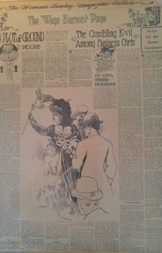 SEPT 29TH NEWSPAPER #J5594- HORSE RACING- THE GIRLS GAMBLING EVIL AT SARATOGA