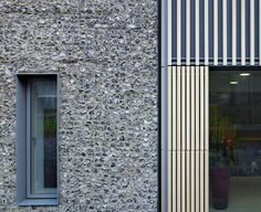 brighton college extension - brighton - allies + morrison - façade detail