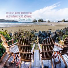 love doesn't make the world go round: love is what makes the ride worthwhile Outdoor Furniture Sets, Outdoor Decor, Workshop, Advice, World, Tips, Inspiration, Home Decor, The World