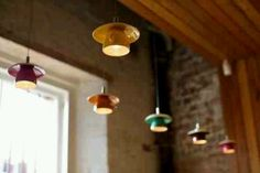 Suspended teacup lights.  Since I don't really have the heart to drill through good teacups, I could make my own (e.g. papier maché, pottery) | dankie @jdprine