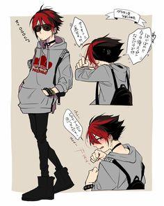 Could be shadow ? Red Hair Men, Osomatsu San Doujinshi, Comedy Anime, Rock Festivals, Ichimatsu, Hot Anime Guys, Dark Anime, Boy Art, Manga