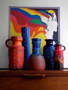 West German Steuler pottery vase, 1960s, MidCenturyFLA,