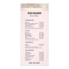 Salon Services Menu Template Best Of Sequin Gold Pink Salon Price List Service Menu Nail Services, Salon Services, Beauty Salon Logo, Beauty Bar, Beauty Ideas, Beauty Tips, Spa Menu, Rack Card, Atelier