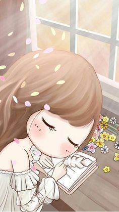 cute and cartoon Cartoon Girl Images, Cute Cartoon Girl, Cute Love Cartoons, Kawaii Chibi, Cute Chibi, Girly Drawings, Cute Girl Wallpaper, Chibi Girl, Anime Dolls