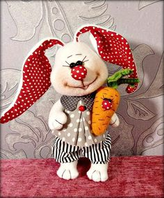 Ideas sewing toys diy easter for 2019 Sewing Toys, Sewing Crafts, Sewing Projects, Rabbit Toys, Soft Dolls, Easter Wreaths, Diy Toys, Fabric Dolls, Machine Quilting