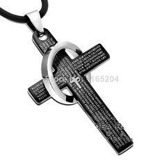 luxury fashion new titanium cross necklace men necklace for men jewelry pendants US $2.30
