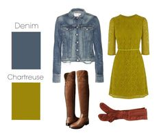 Denim & Chartreuse | 26 Essential Fall Color Palettes You Need To Try