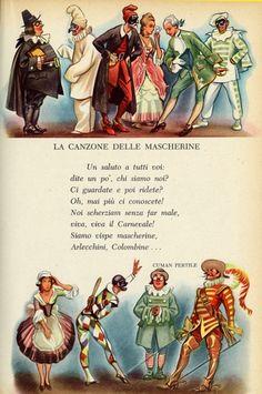 Italian Alphabet, Magic Wings, Italian Lessons, Carnival Masks, Vintage School, Italian Language, Writing Poetry, Free Graphics, Teaching Tools