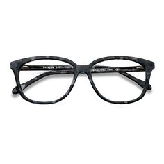 Women's Escapee - Gray/Floral square plastic - 15565 Rx Eyeglasses ($32) ❤ liked on Polyvore featuring accessories, eyewear, eyeglasses, square plastic glasses, wayfarer style glasses, lens glasses, wayfarer eye glasses and square eyeglasses