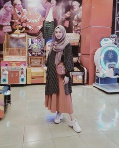 Casual Hijab Outfit, Ootd Hijab, Casual Outfits, Islamic Fashion, Muslim Fashion, Girl Fashion, Fashion Outfits, Fasion, Hijab Style Tutorial