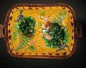 PRICE REDUCTION  Stunning Antique Majolica Tray Platter