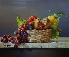 Por amor al arte: Luigi Grassia Fruit Painting, Autumn Painting, Painting Still Life, Still Life Art, Still Life Images, Small Art, Indian Paintings, Character Drawing, Still Life Photography