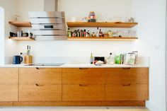 Love Drawing and Design? Finding A Career In Architecture amazing bespoke design veneered birch ply retro g plan teak style kitchen Danish Kitchen, 60s Kitchen, Kitchen Layout, Home Decor Kitchen, Kitchen Interior, Vintage Kitchen, Kitchen Ideas, Kitchen Unit, Kitchen Office