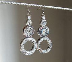 Around the world earrings earth friendly di PensieriCreativi