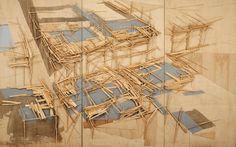 Tadashi Kawamata, paris project, 1988