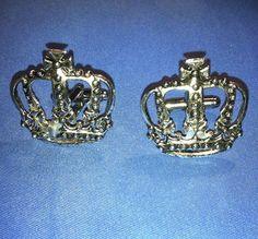 Men's New Silver Royal King Crown Cufflinks