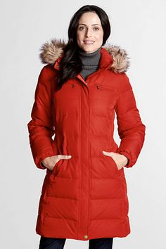 f8432c4fa7a on sale this weekend  139 (198 usu) Women s Modern Down Coat from Lands