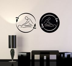 Vinyl Wall Decal Spa Massage Therapy Beauty Logo Relax Stickers (192ig)