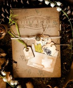 Vintage Style Nature Journal...this looks similar to the garden journal i made my mom a couple years ago!