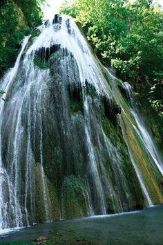 The Cola de Caballo waterfalls in Monterrey, Mexico