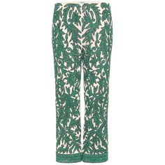 Ganni Colby Sequinned Trousers ($610) ❤ liked on Polyvore featuring pants, green, sequin trousers, green pants, green trousers, ganni and green sequin pants